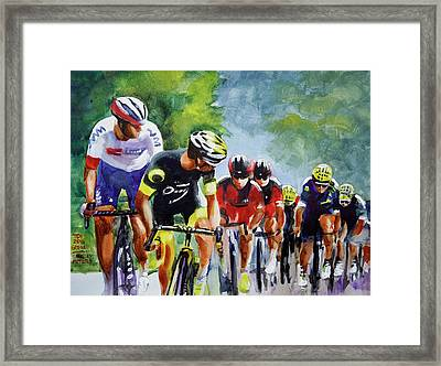 Cautious Pelaton Framed Print by Shirley Peters