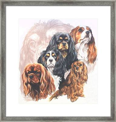 Cavalier King Charles Spaniel And Ghost Framed Print