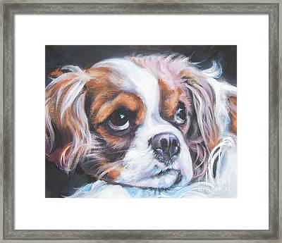 Cavalier King Charles Spaniel Blenheim Framed Print by Lee Ann Shepard
