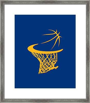 Cavaliers Basketball Hoop Framed Print by Joe Hamilton