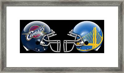 Cavaliers Warriors What If Its Football Framed Print