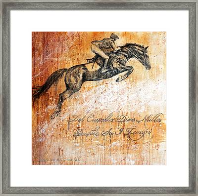 Cavallo Contemporary Horse Art Framed Print