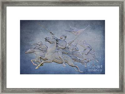 Cavalry Charge Gettysburg Battlefield Framed Print by Randy Steele