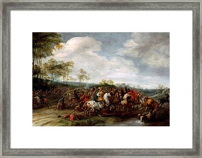 Cavalry Skirmish Framed Print by Mountain Dreams