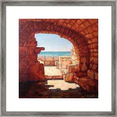 Cave Framed Print by Anna Shurakova