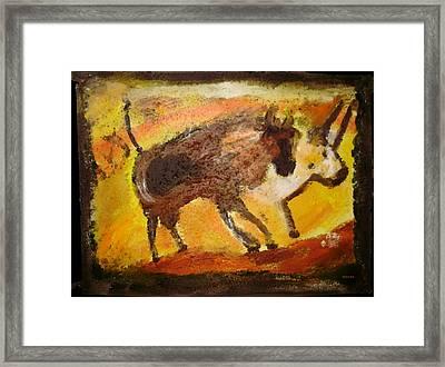 Cave Art Framed Print by Shelley Bain