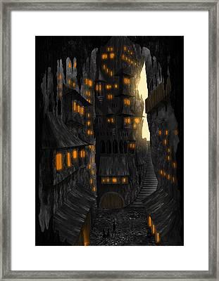 Cave Dwellings 1 - By Diana Van Framed Print