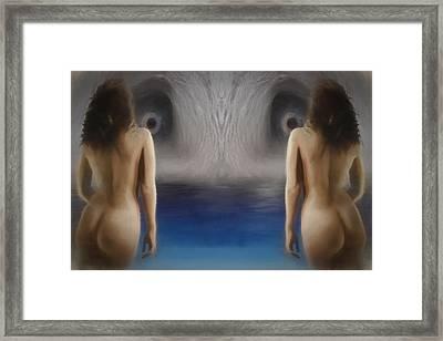 Cave Eyes Framed Print by John Haldane