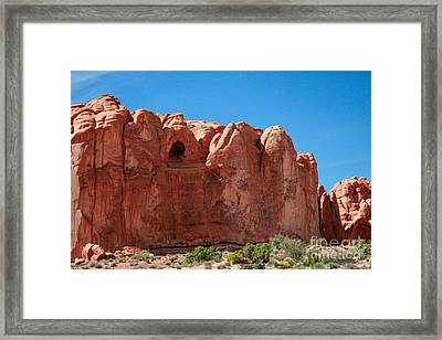 Cave Formation Arches National Park Framed Print