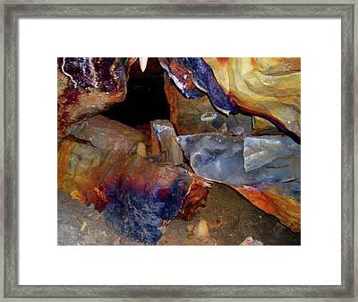 Cave Gems Framed Print