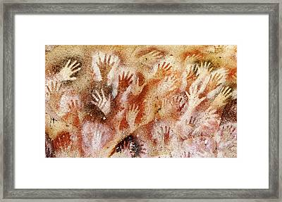 Cave Of The Hands - Cueva De Las Manos Framed Print