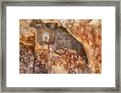 Cave Of The Hands Patagonia Argentina Framed Print