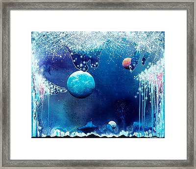 Cave Of The Stargate Framed Print by Lee Pantas