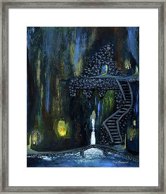 Cave Of Thrones Framed Print