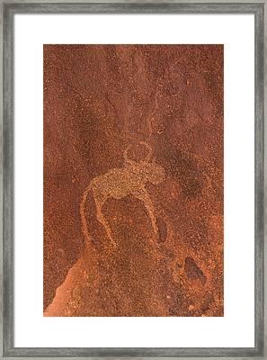 Cave Painting By Bushmen, Damaraland Framed Print