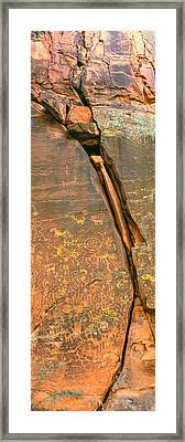 Cave Painting, V-bar-v Heritage Site Framed Print by Panoramic Images