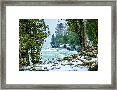 Cave Point #5 Framed Print
