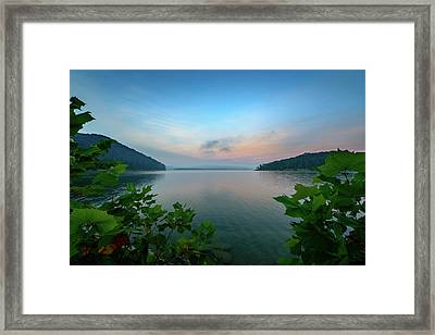 Cave Run Morning Framed Print