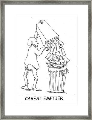 Caveat Emptior Framed Print by R  Allen Swezey
