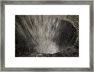 Cavern Cascade Framed Print