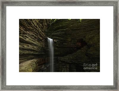 Cavern Cascade Waterfall  Framed Print by Michael Ver Sprill