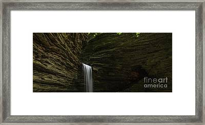 Cavern Cascade Waterfall Panorama Framed Print by Michael Ver Sprill