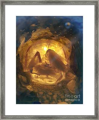Cavern Light Framed Print by Steed Edwards