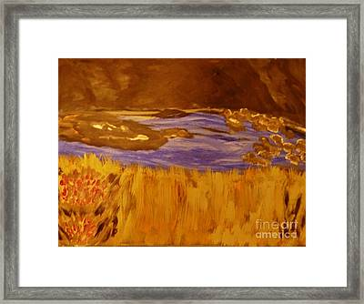 Caves And Watet Framed Print by Marie Bulger