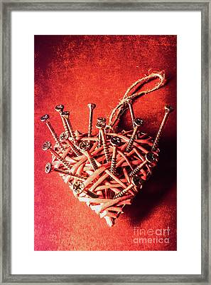 Cavities Of Love Framed Print