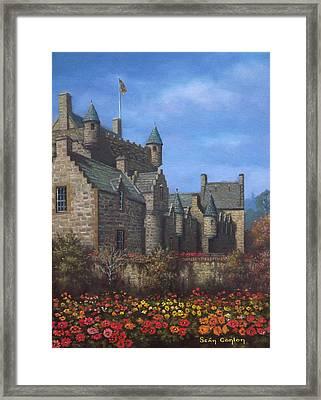 Cawdor Castle In Summertime Framed Print by Sean Conlon