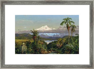 Cayambe Framed Print by Frederic Edwin Church