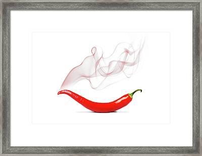 Cayenne Pepper Framed Print by Mark Rogan