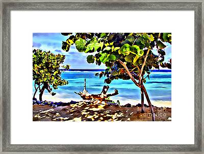 Cayman Cove Framed Print by Carey Chen