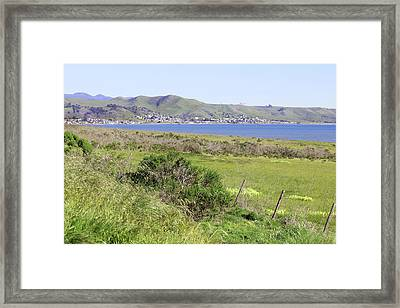 Framed Print featuring the photograph Cayucos Coastline - California by Art Block Collections