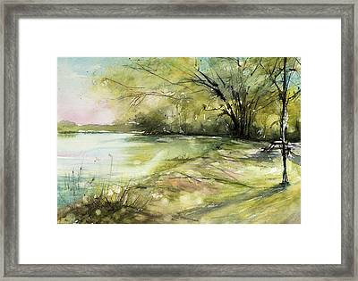 Caz Lake Rest Stop Framed Print