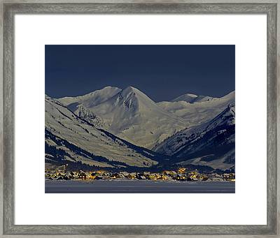 Cb And Paradise Divide By Moonlight Framed Print by Dusty Demerson