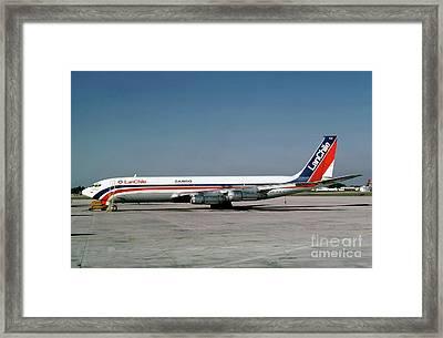 Cc-ceb, Boeing 707-385c, Lan Chile Cargo, Jt3d-3b S2, Jt3d Framed Print by Wernher Krutein