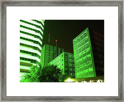 Cc27 Frost Bank At Night Framed Print