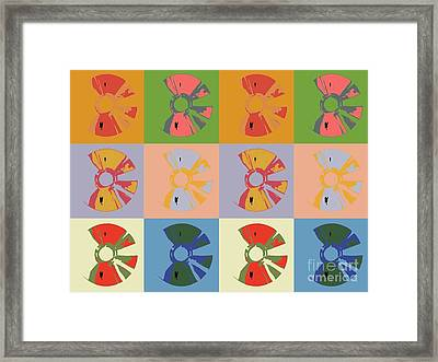 Cds Colors  Music  Framed Print by Victor Arriaga
