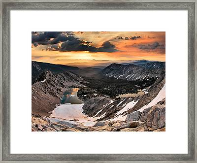 Cdt Sunrise Framed Print by Leland D Howard
