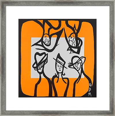 Ce Chapeau Est Fantastique Framed Print by Gdm