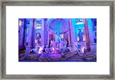 Ceasars Palace Forum Shops Framed Print