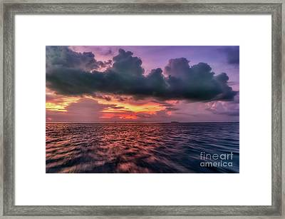 Framed Print featuring the photograph Cebu Straits Sunset by Adrian Evans