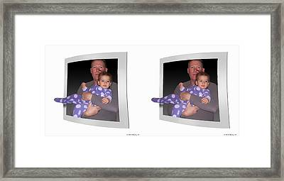 Cece - Gently Cross Your Eyes And Focus On The Middle Image Framed Print by Brian Wallace