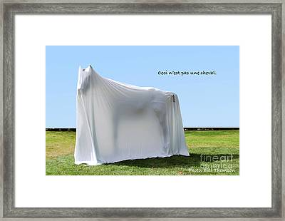 Framed Print featuring the photograph Ceci N'est Pas Une Cheval by Bill Thomson