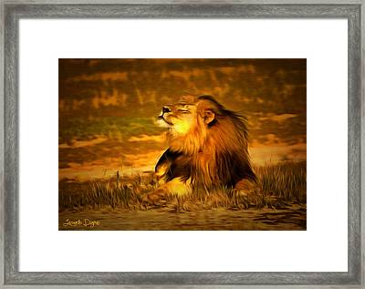 Cecil At Sun Framed Print by Leonardo Digenio