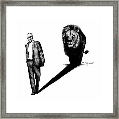 Cecil The Lion Framed Print by Raul Samano