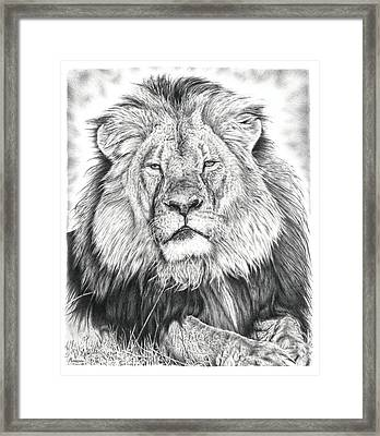 Cecil The Lion  Framed Print by Remrov