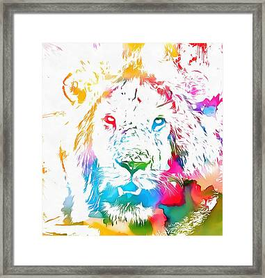 Cecil The Lion Watercolor Tribute Framed Print by Dan Sproul