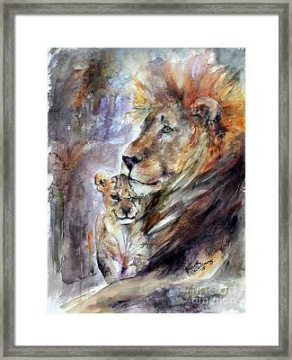 Framed Print featuring the painting Cecil The Patriarch No More by Ginette Callaway